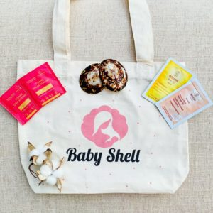 pack allaitement baby shell - coquillage d'allaitement et tote bag