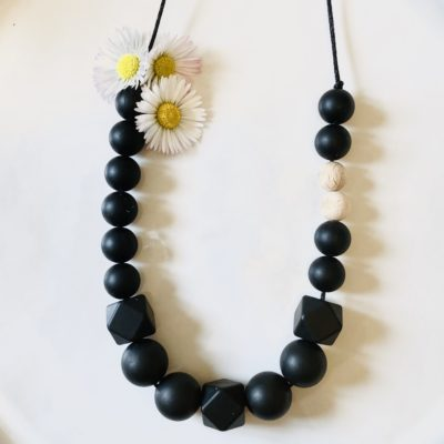 Collier Black & Wood Baby Shell