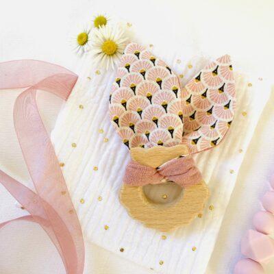 CricCroc Baby Shell - anneau de dentition en bois