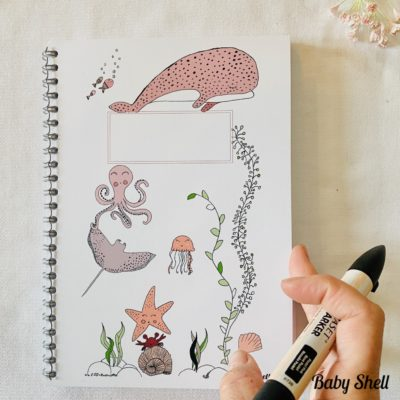 Carnet de dessin Baby Shell