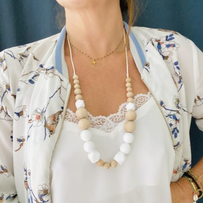 Long Bo.Aime Corail - Collier d'allaitement Baby Shell